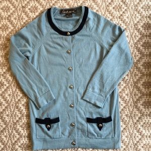 Coach Wool Blue Cardigan XS